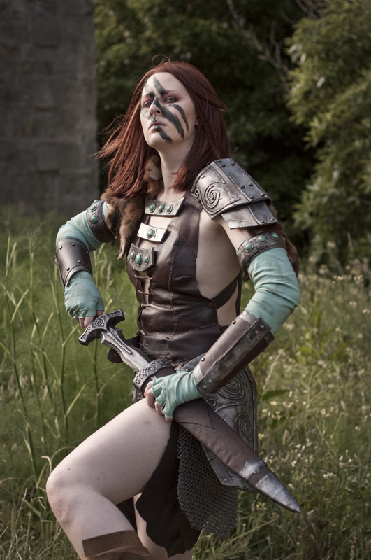 Aela the Huntress 01 by static-sidhe
