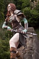 Aela the Huntress 03 by static-sidhe