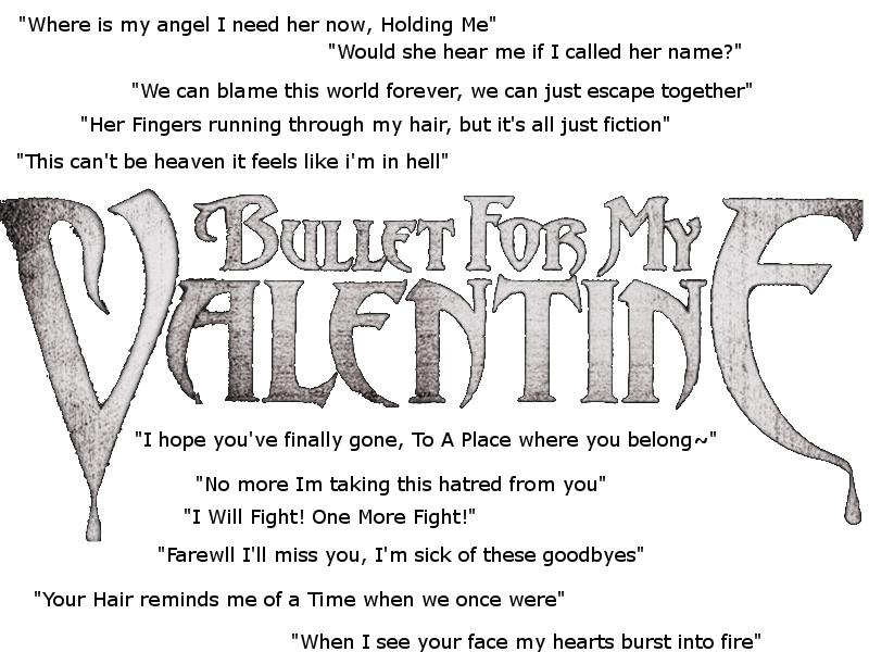 Bullet For My Valentine Lyrics By Rockaholic XII ...
