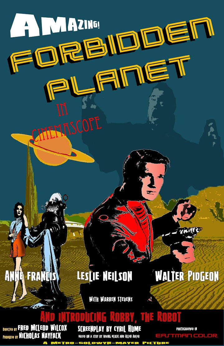 Forbidden Planet Poster by Jackcrow