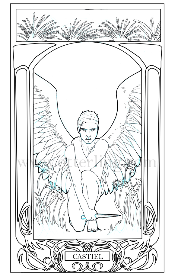 Dean supernatural coloring page coloring pages for Supernatural coloring pages