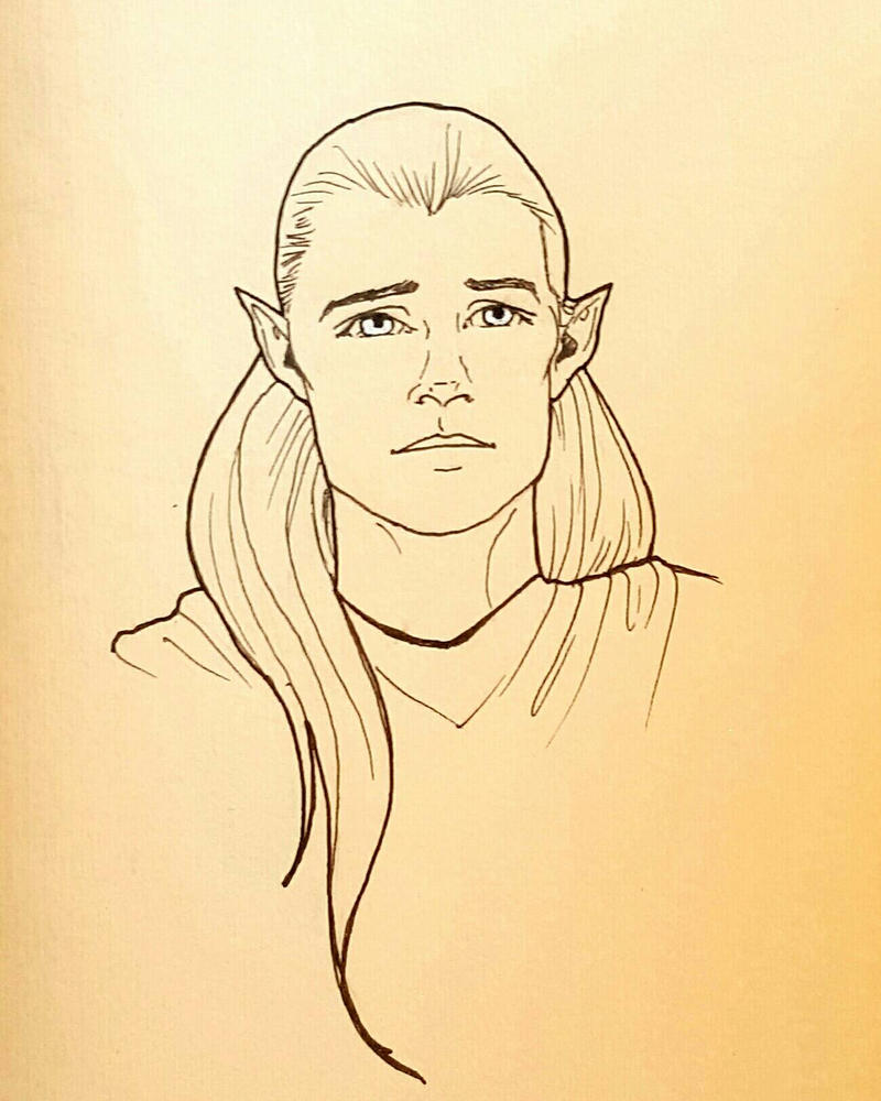Inktober: Legolas by otterling
