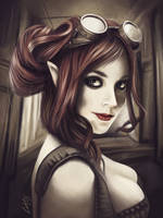 Steampunk girl by Lukecfc