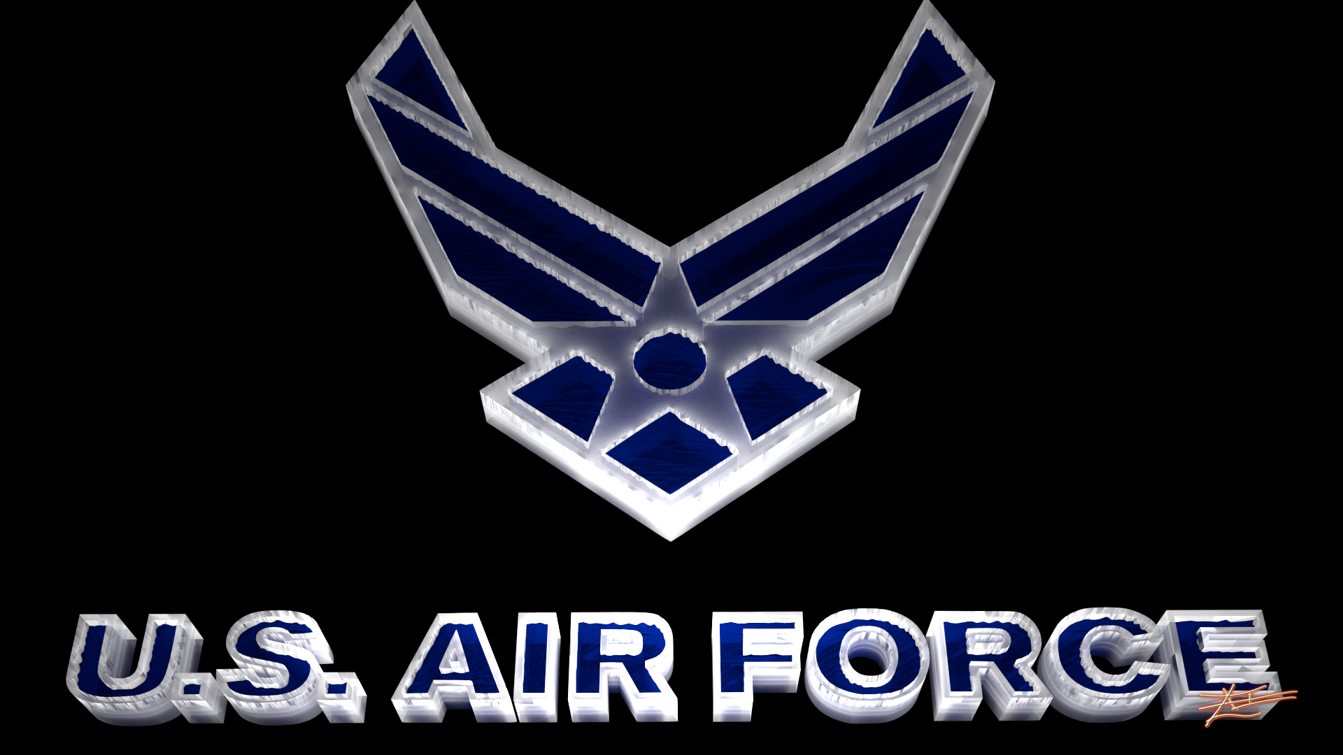 Air Force Logo - Water and Ice by ZroXorZ on DeviantArt