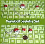 Pokeball Jewelry Set