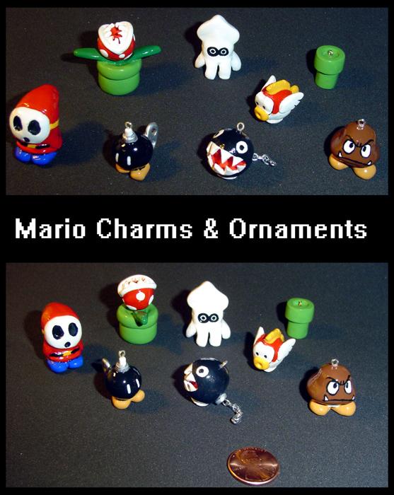 Mario Charms by YellerCrakka