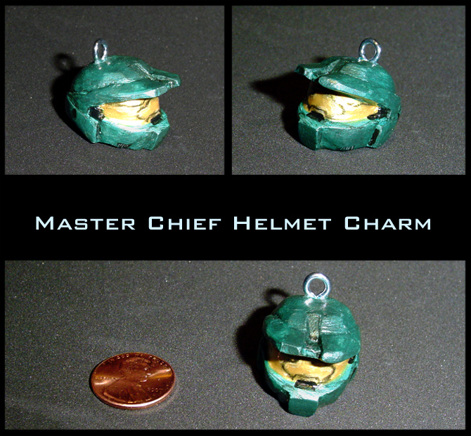 Halo Master Chief Helmet Charm by YellerCrakka