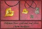 Pokemon Heart Gold Charm Necklace