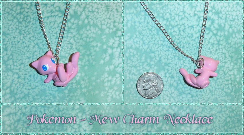Pokemon - Mew Charm Necklace by YellerCrakka