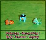 Pokemon Ash's Starter Charms