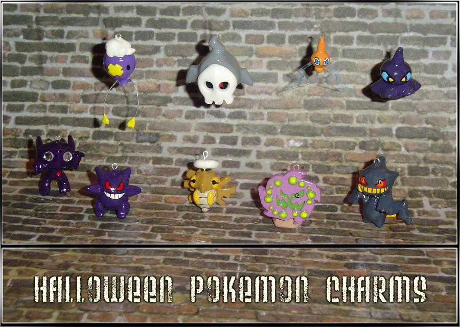 Halloween Pokemon Charms by YellerCrakka