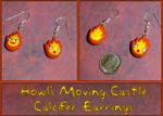 Howls Moving Castle - Calcifer Charm Earrings