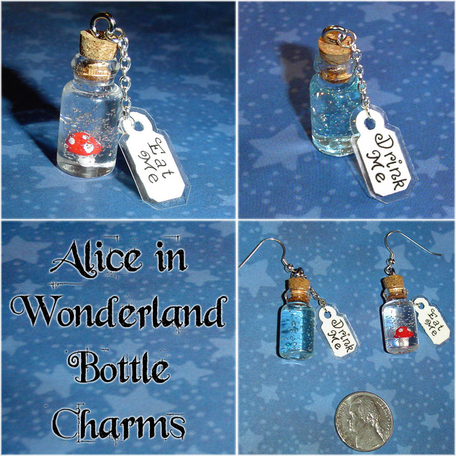 Alice in Wonderland Charms - Eat Me and Drink Me