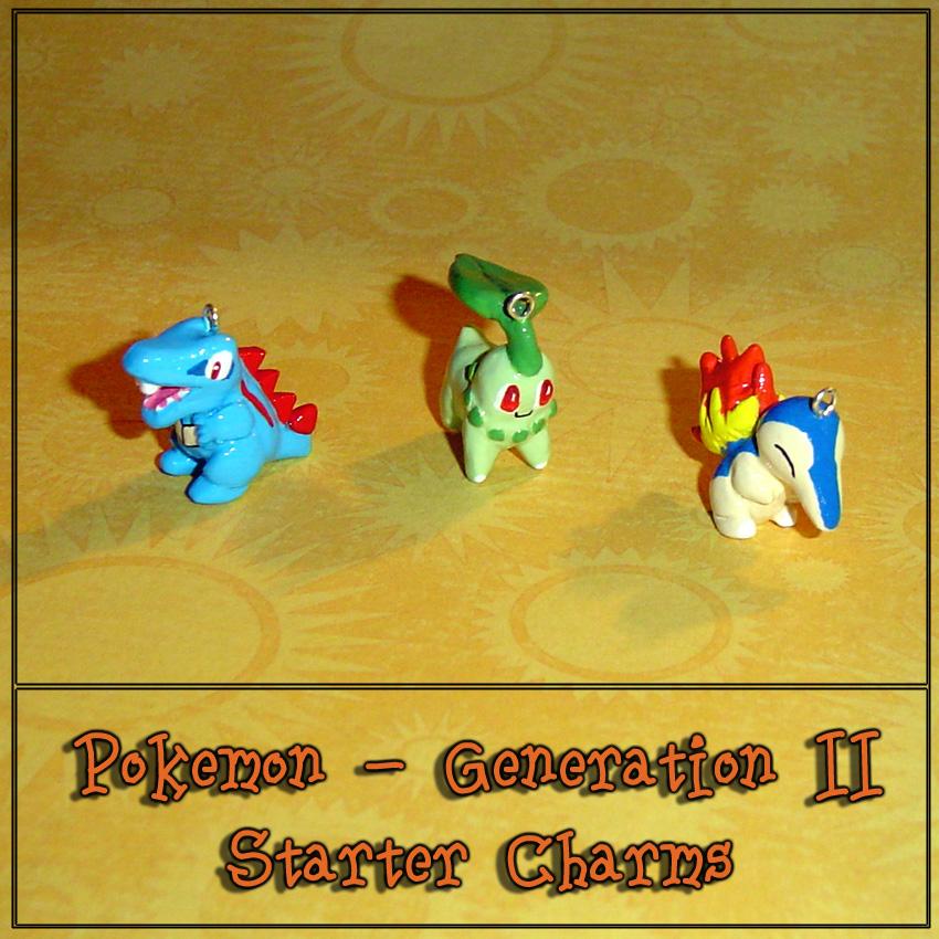 Pokemon - Gen 2 Starter Charms by YellerCrakka