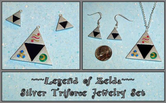 Zelda Silver Triforce Jewelry