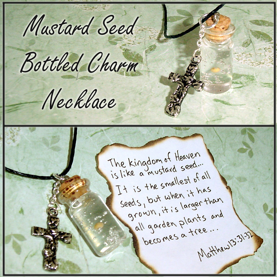 Mustard Seed in a Bottle Charm by YellerCrakka