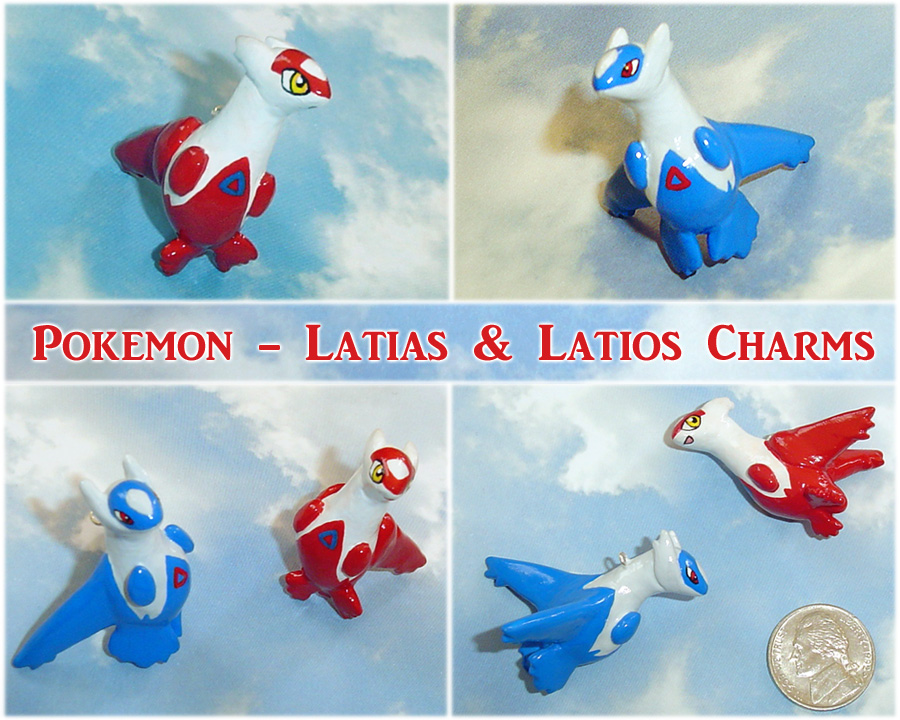 Pokemon - Latios and Latias Charms by YellerCrakka