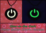 Glowing Power Button Necklace