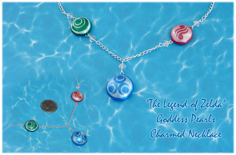 Zelda Goddess Pearls Deluxe Necklace by YellerCrakka