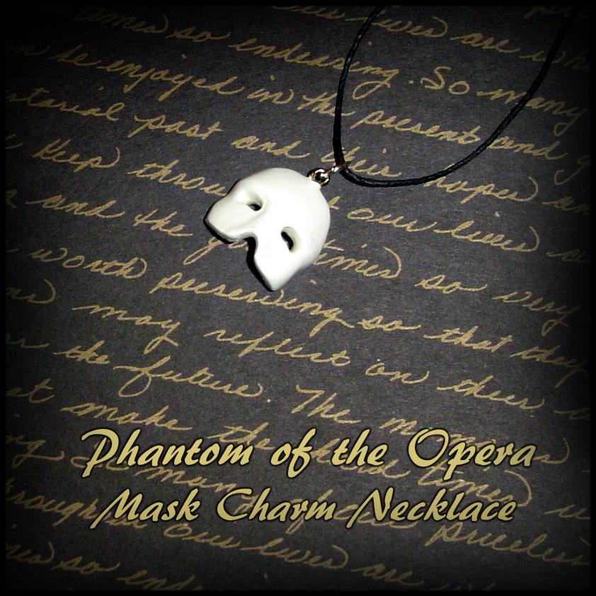 Phantom of the Opera Mask Charm Necklace by YellerCrakka