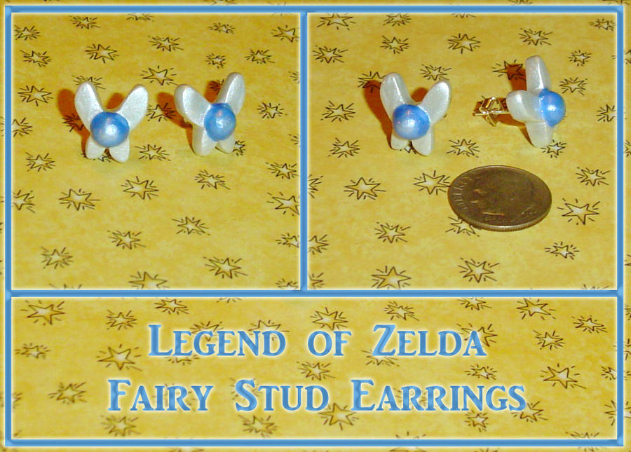 Zelda Navi Fairy Stud Earrings by YellerCrakka