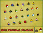 Pokemon - Mini Pokeball Charms