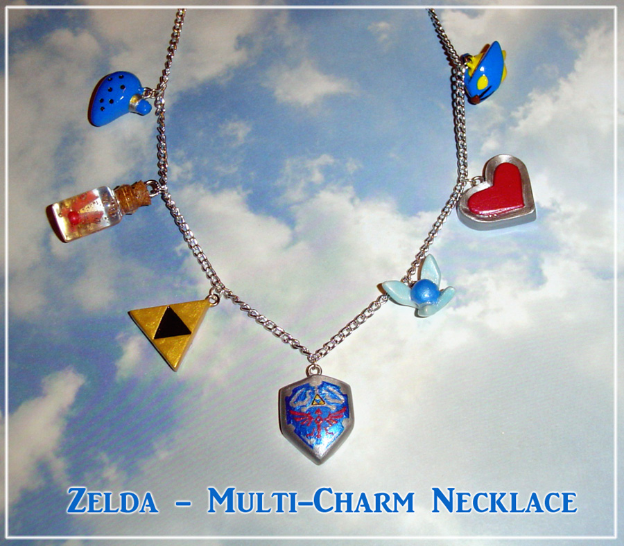 Zelda - Multi Charm Necklace by YellerCrakka