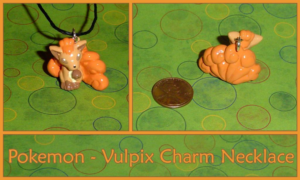 Pokemon Necklace Charms Pokemon vulpix charm necklace