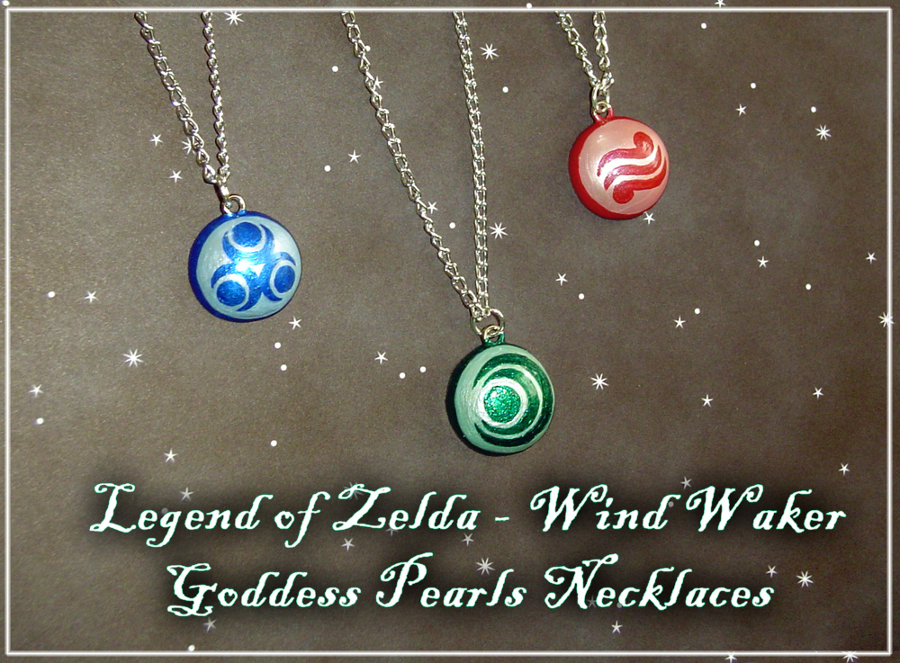 Zelda Goddess Pearl Necklaces by YellerCrakka