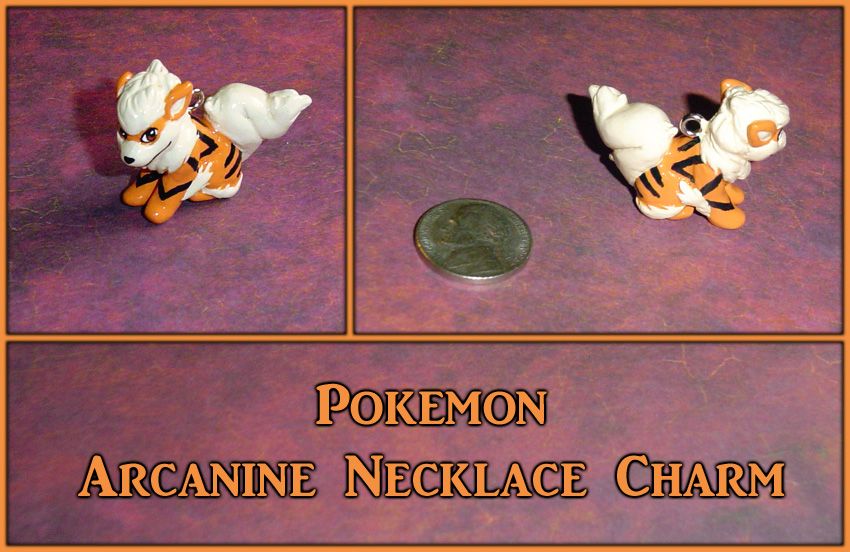 Pokemon - Arcanine Necklace Charm by YellerCrakka