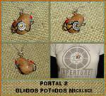 Portal 2 - GLaDOS POTaDOS Potato Charm Necklace