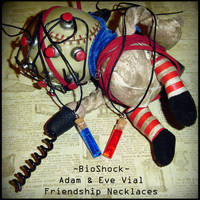 BioShock - Adam and Eve Vial Necklaces by YellerCrakka