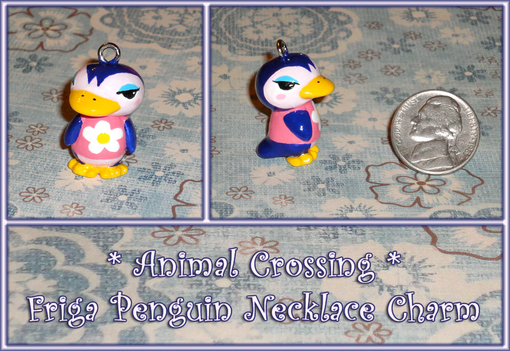 Friga Penguin Necklace Charm By