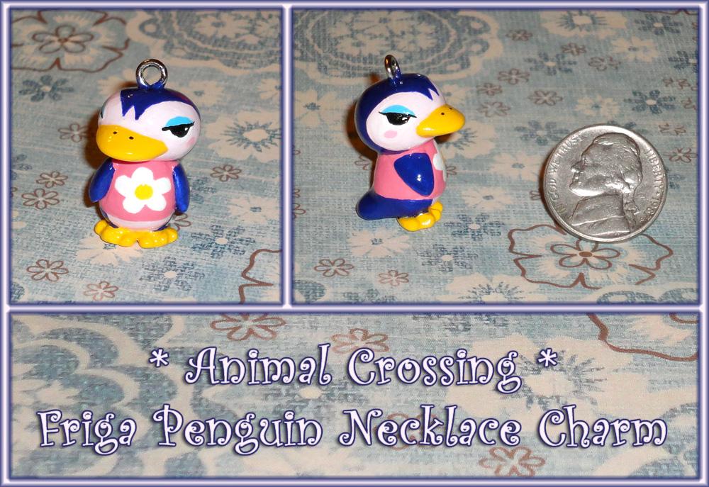 Animal Crossing - Friga Penguin Necklace Charm by YellerCrakka