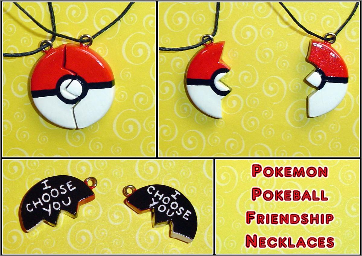 Pokemon  Pokeball Friendship Necklace Charms By Yellercrakka