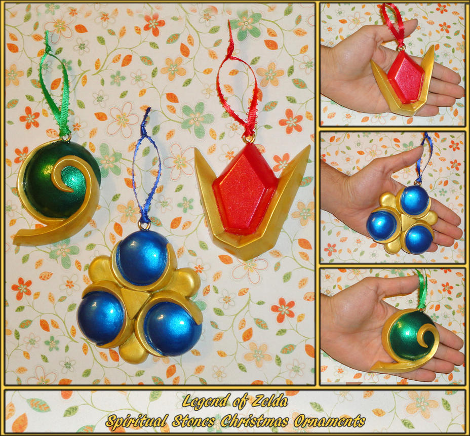 Zelda - Spiritual Stones Ornament Set by YellerCrakka