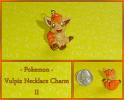 Pokemon - Vulpix Necklace Charm II by YellerCrakka