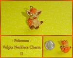 Pokemon - Vulpix Necklace Charm II