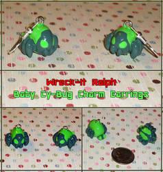 Wreck-It Ralph - Baby Cy-Bug Charm Earrings