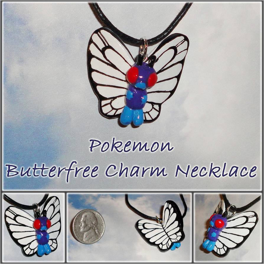Pokemon - Butterfree Charm Necklace - Handmade by YellerCrakka