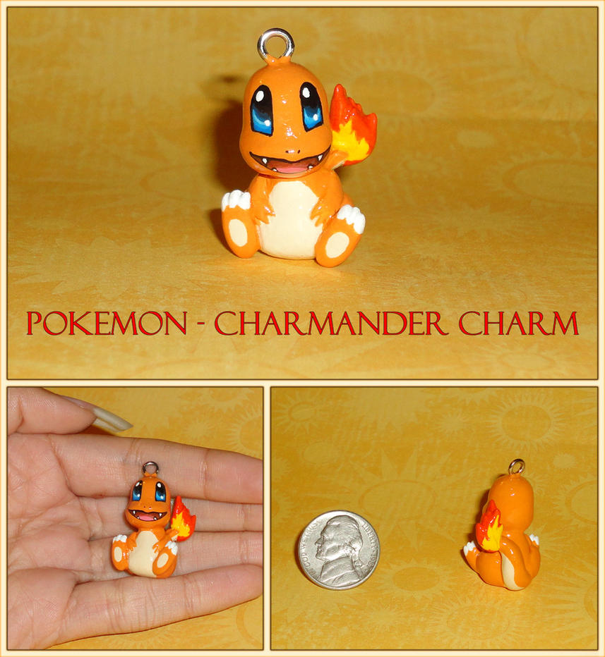 Pokemon - Charmander Necklace Charm by YellerCrakka
