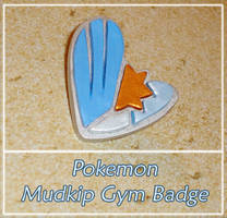Pokemon - Mudkip Gym Badge Charm - Hoenn Remake by YellerCrakka