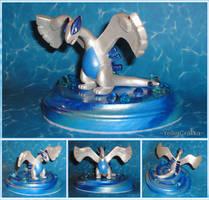 Pokemon - Lugia Sculpture with Whirlpool Base by YellerCrakka