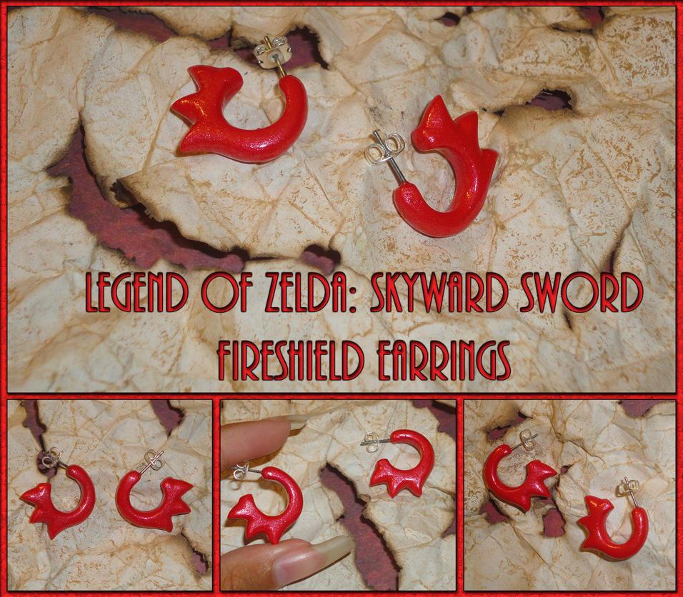 Zelda Skyward Sword Fireshield Earrings - Cosplay by YellerCrakka