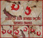 Zelda Skyward Sword Fireshield Earrings - Cosplay