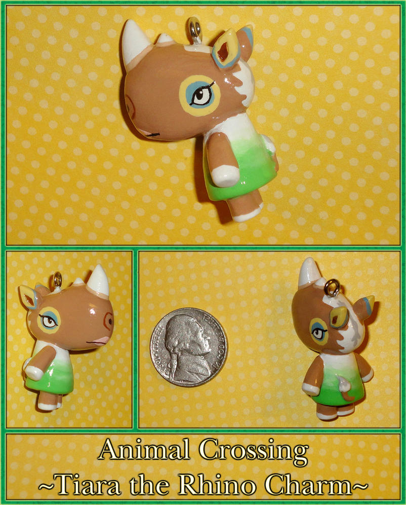 Animal Crossing - Tiara Rhino Charm - Handmade by YellerCrakka