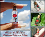 Beauty and the Beast - Enchanted Rose Bottle Charm