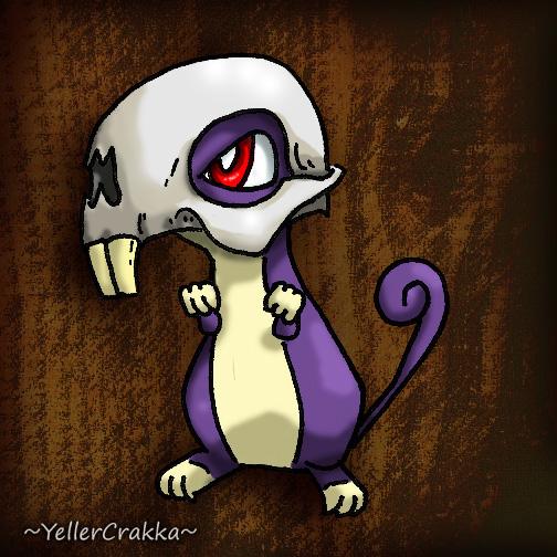 Pokemon Halloween - Rattata with Raticate Skull by YellerCrakka