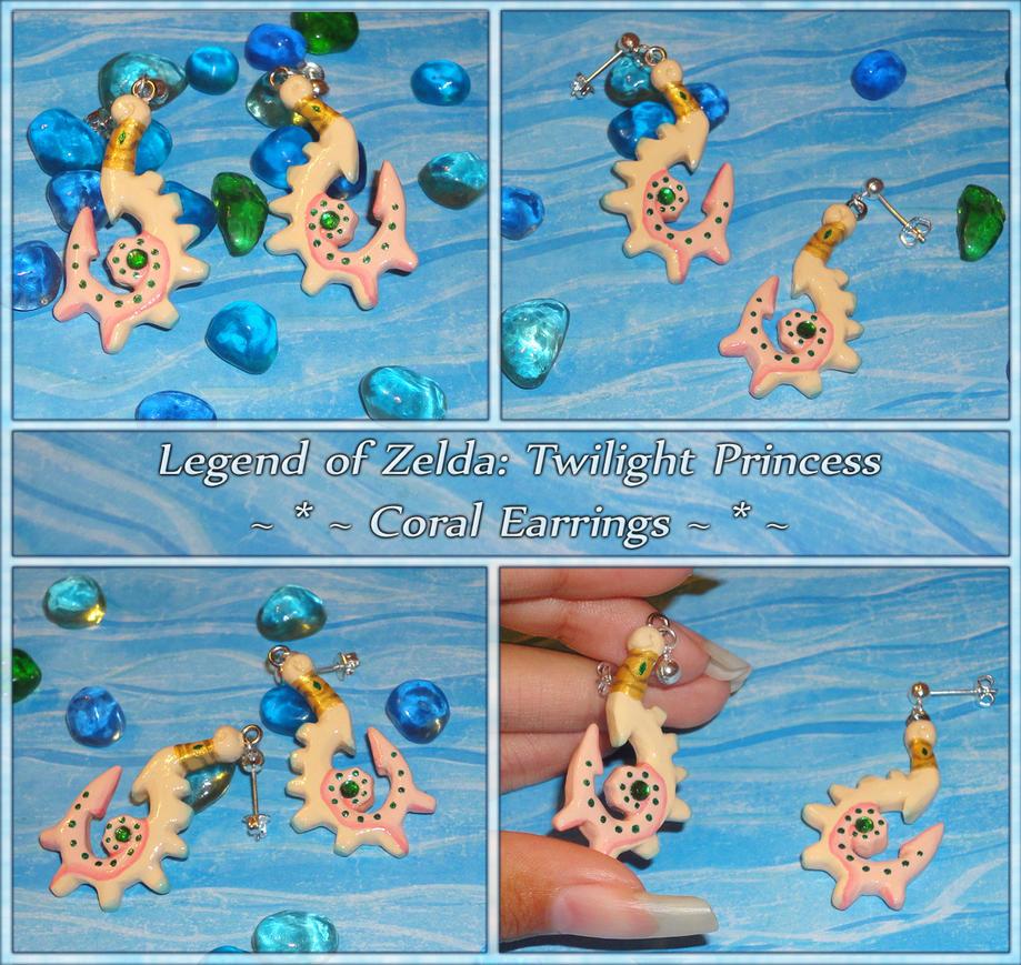 Legend of Zelda Twilight Princess - Coral Earrings by YellerCrakka