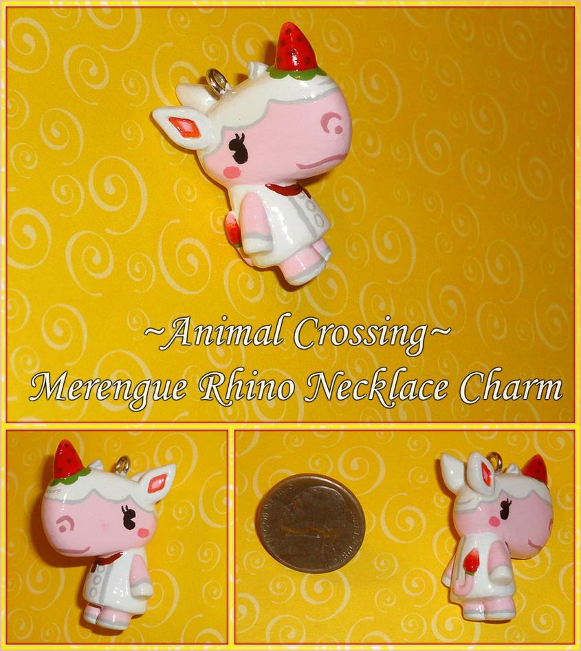 Animal Crossing - Merengue Rhino Charm - Handmade by YellerCrakka